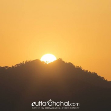 Sunrise behind the Shivaliks