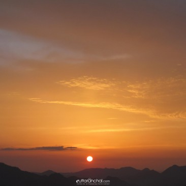 Sunset from Ghandiyal, Pauri