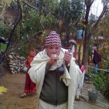 man enjoying old tradition oh hookah