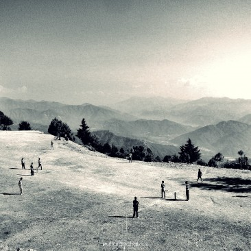Cricket in valley of the Himalayas