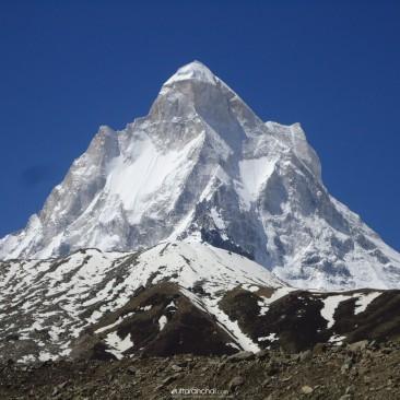 Shivling Peak from Bhojwasa, Gangotri