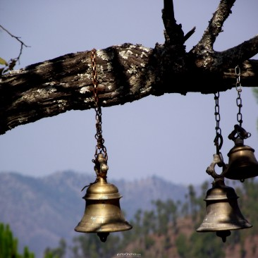 Temple bells in the open