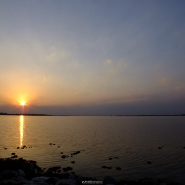 Sunset at Tomariya dam