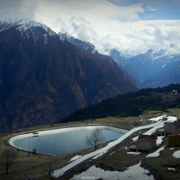 View of lake in Auli
