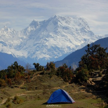 Chaukhamba View from Devaria Tal
