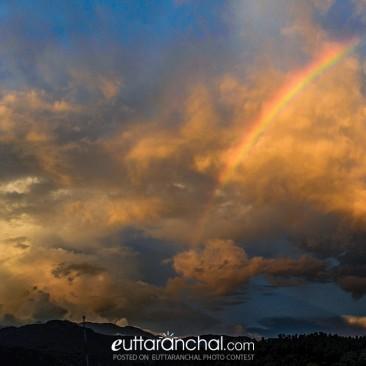 Rainbow amid the clouds