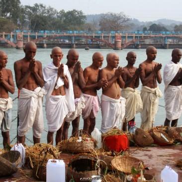 Devotee in Haridwar