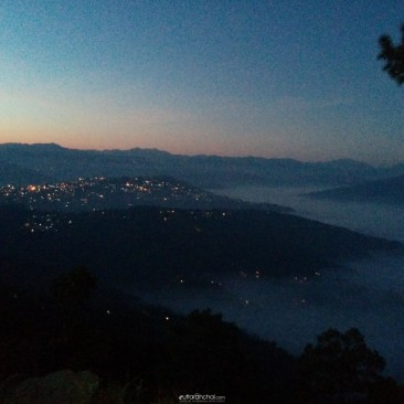 Almora city in the laps of clouds