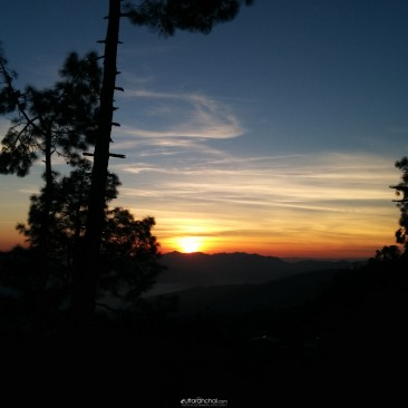 Sunrise from Kasar Devi, Almora