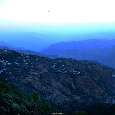 panoramic view of the Himalayas
