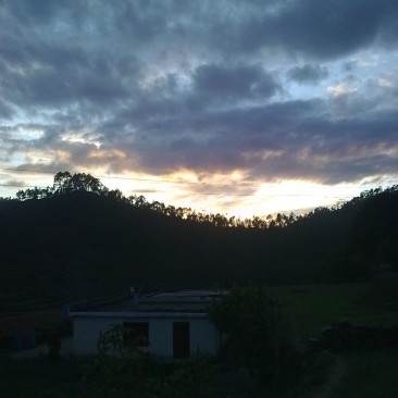an evening in village