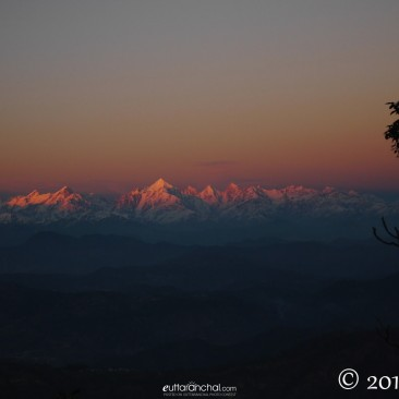 Panchachuli at sunset