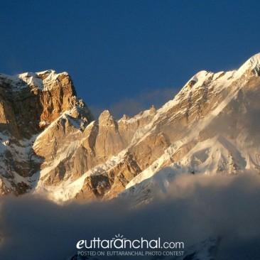 Stunning sunset on Kedar peak