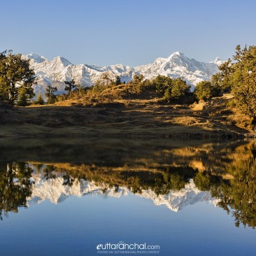 The Majestic Himalayas Reflected in Deoriya Taal