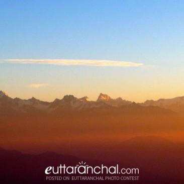Sunrise at Surkhanda Mandir