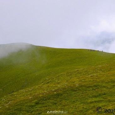 Misty slopes of Ali Bugyal