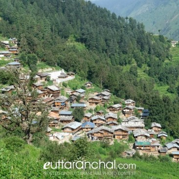 Beautiful View of Traditional Village at Uttarkashi