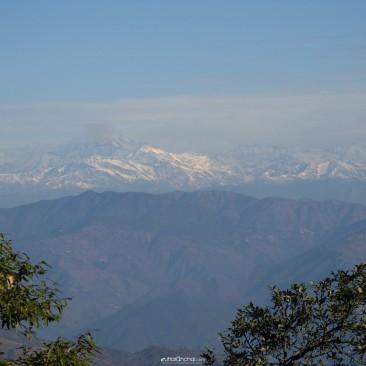Snow capped peaks at Lansdowne, Uttarakhand