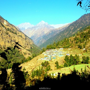 Khati Village in the way of Pindari Glaciar/ Kafni Glaciar