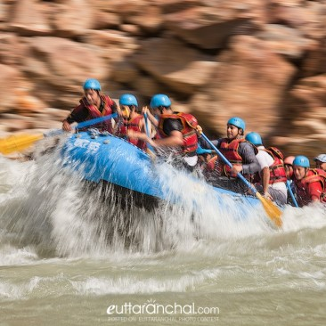 Rafting in the Ganges