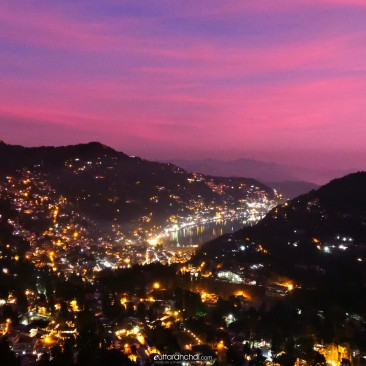 Pink Nainital – View from Camel's Back